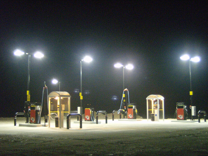 Fueling Station Night